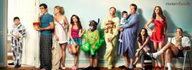 modern family cast standing facebook cover