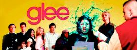 free tv shows glee cast standing facebook cover