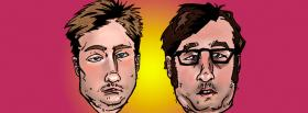 free tim and eric faces tv series facebook cover