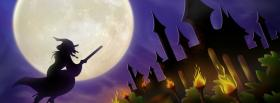 witch shadow halloween facebook cover