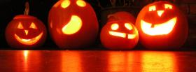 four carved pumpkins facebook cover