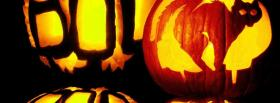 candles with halloween pumpkin facebook cover