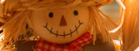 halloween scarecrow face facebook cover