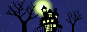 haunted house at night facebook cover