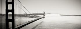 long black and white bridge facebook cover