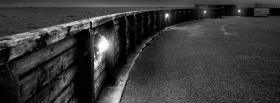 black and white scenery facebook cover