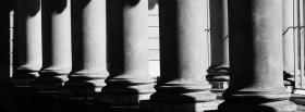 elegant black and white columns facebook cover