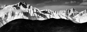 amazing black and white mountains facebook cover