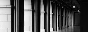 hallway black and white facebook cover
