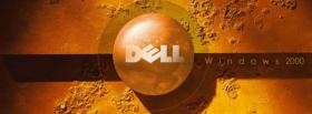 free technology orange dell facebook cover
