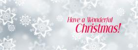 free Christmas White Red facebook cover