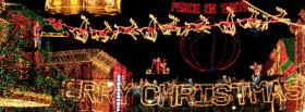 free Merry Christmas lights facebook cover