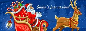 free Santa claus Christmas facebook cover