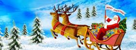 free merry christmas with santa claus facebook cover