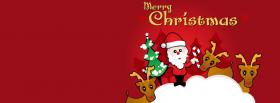 free santa claus cute 2 facebook cover