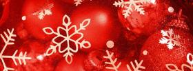 Christmas Red Color facebook cover