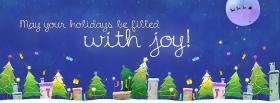 free Happy Holidays Christmas facebook cover