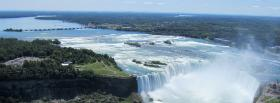 free large waterfall nature facebook cover