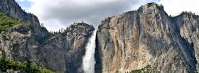 free cliff waterfall nature facebook cover