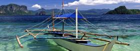 free boat on water nature facebook cover