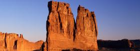 free desert rocks nature facebook cover