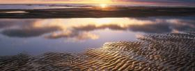 free beach sand ripples nature facebook cover