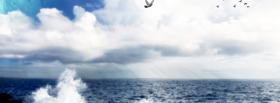 free birds and clouds nature facebook cover