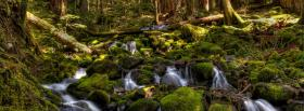 free falls broken trees nature facebook cover