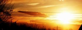 free intense sunset nature facebook cover
