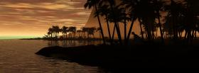 free dino island nature facebook cover