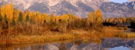 free autumn trees mountains nature facebook cover