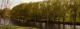 free forest and lake nature facebook cover