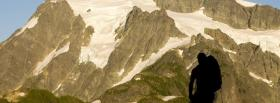 free hiker alps nature facebook cover