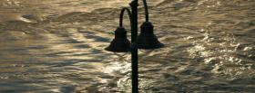 free lights and river nature facebook cover