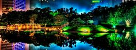 free colorful night trees nature facebook cover