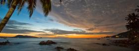 free fascinating beach nature facebook cover