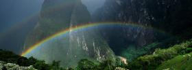 free forest rainbow nature facebook cover