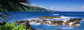free dangerous rocks beach nature facebook cover