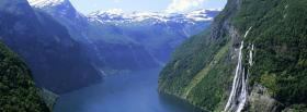 free fjord norway nature facebook cover