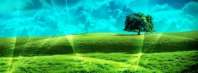 free bright landscape nature facebook cover