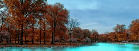 free intense blue water nature facebook cover