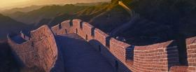 free great wall of china nature facebook cover