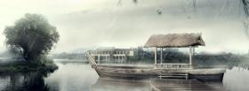 free boat in japan nature facebook cover