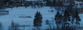 free evening winter nature facebook cover