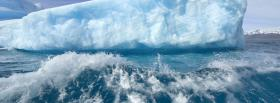 free iceberg wave nature facebook cover
