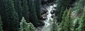 free forest and river nature facebook cover