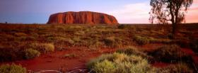 free ayers rock nature facebook cover