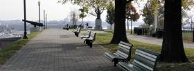 free benches trees nature facebook cover