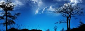 free blue sky clouds nature facebook cover