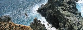 free cliff and water nature facebook cover